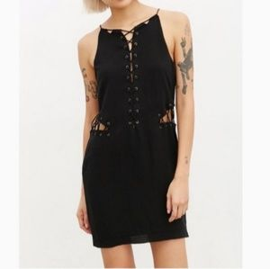 Urban Outfitters Stevie May Lace Up Black Dress XS